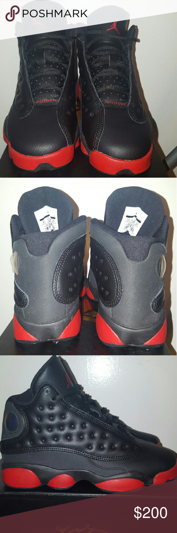 check out b9b38 e81f2 Air Jordan 13 Dirty Bred Black   Red