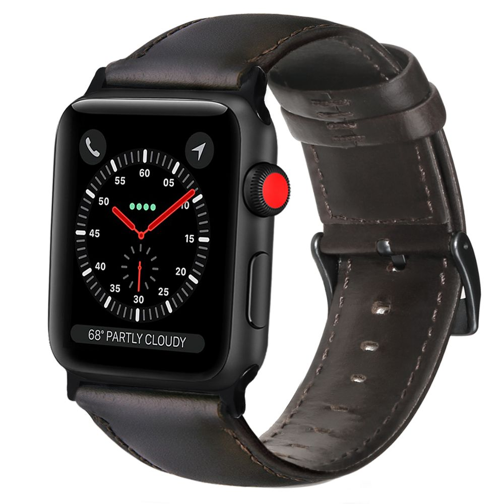 Apple watch band mens Genuine Leather Wax Oil Skin band