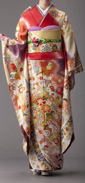 Hulisode: long sleeved formal kimono, single women only
