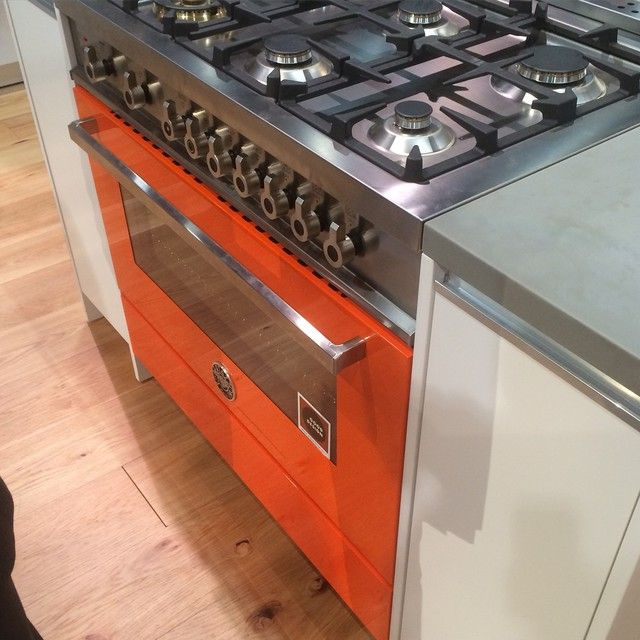 Have to love the @bertazoni range! #orange is awesome but love our yellow! #1514Home #indetailinteriors #interiordesign #kitchens #kbis2015