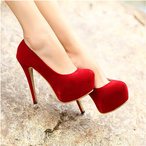 Red Pumps Zapatos Mujer Zapatos De Tacon Tacones