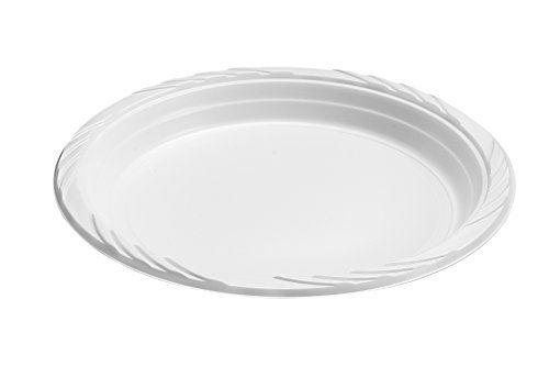 Blue Sky 100 Count Disposable Plastic Plates 9 Inch White Blue Sky Http Www Amazon Com Dp B00 Disposable Plastic Plates Plastic Plates White Plastic Plates
