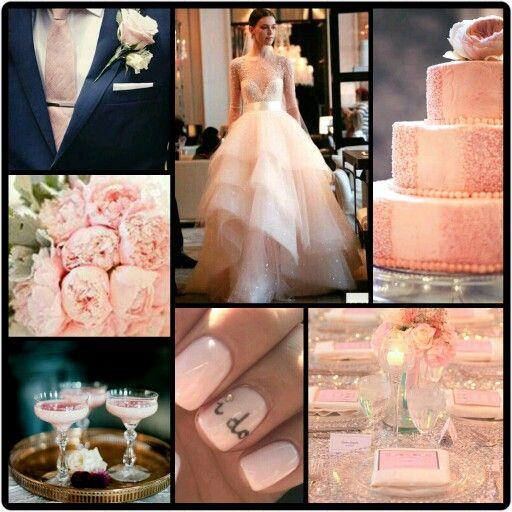 Blue And Pink Wedding Ideas: Petal Pink, Rose Quartz & Navy Blue Wedding Inspiration