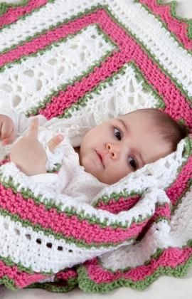 Summer Baby Blanket Free Crochet Pattern from Red Heart