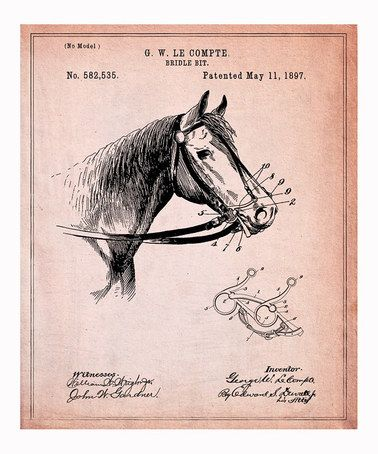Horse Bridle Bit 1987 Art Print by Oliver Gal on #zulily