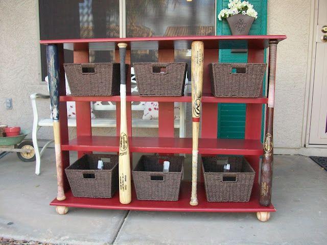 Baseball Dugout Bedroom Designs: The Project Shoppe: Baseball Bat Bookcase