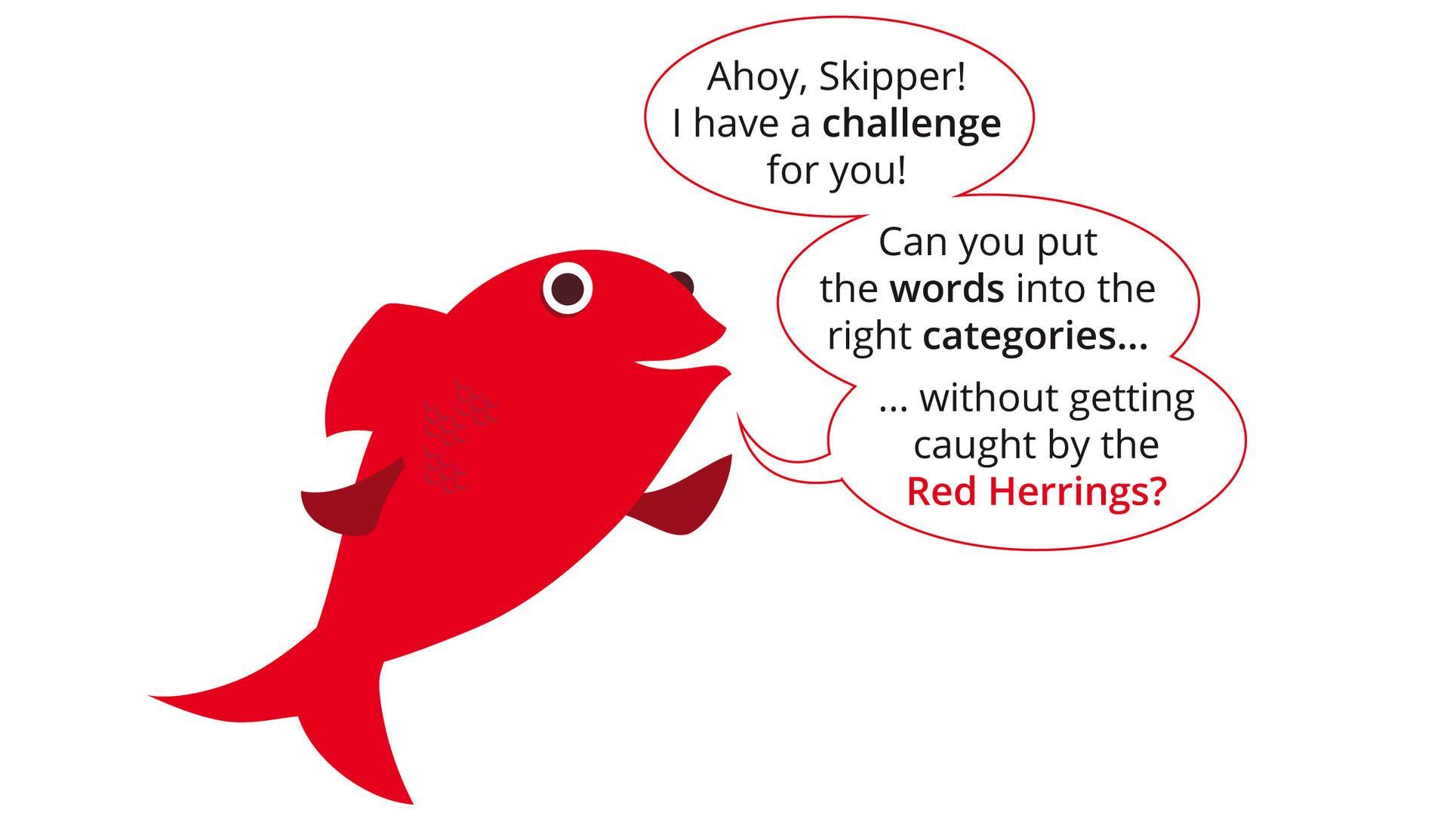 Red Herring WordGamesPuzzleios Education blog, Red