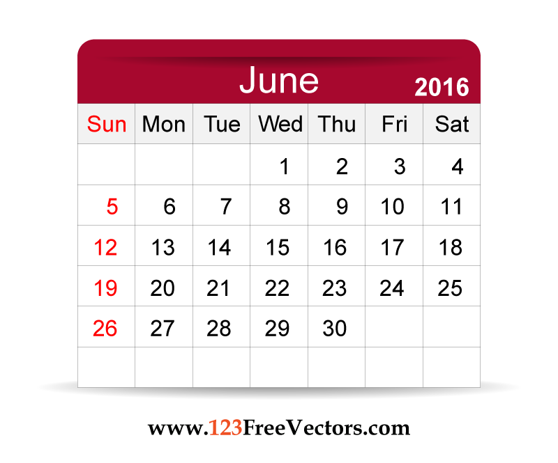 June Calendar Education World : Download free vector calendar june printable template
