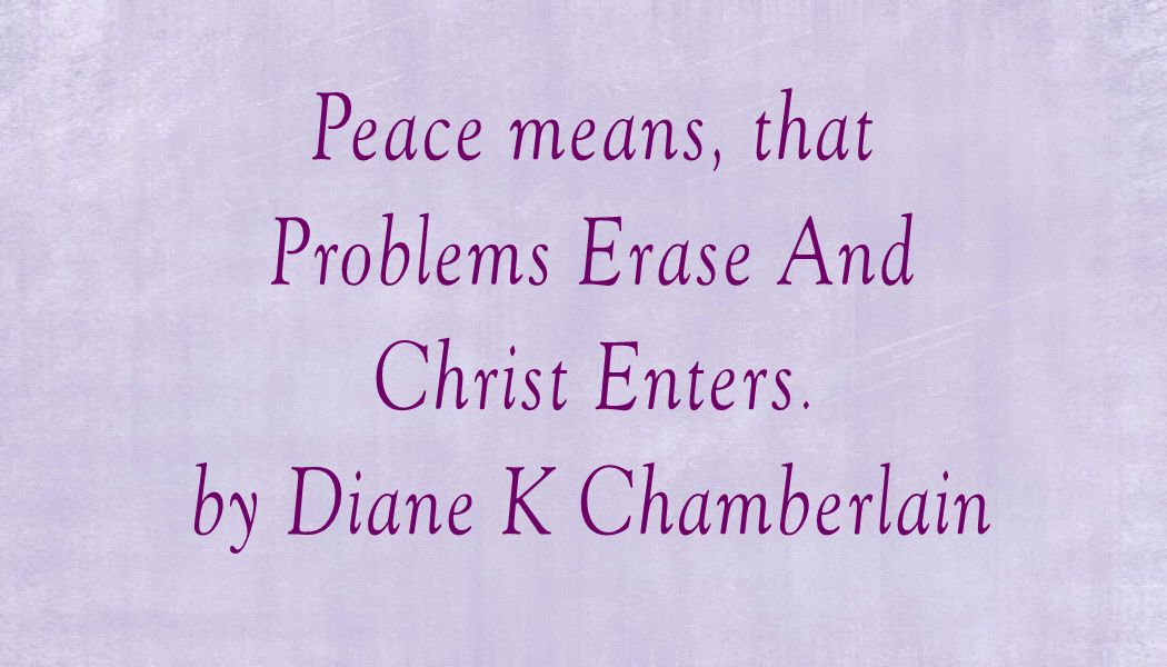 Quote from Diane K Chamberlain