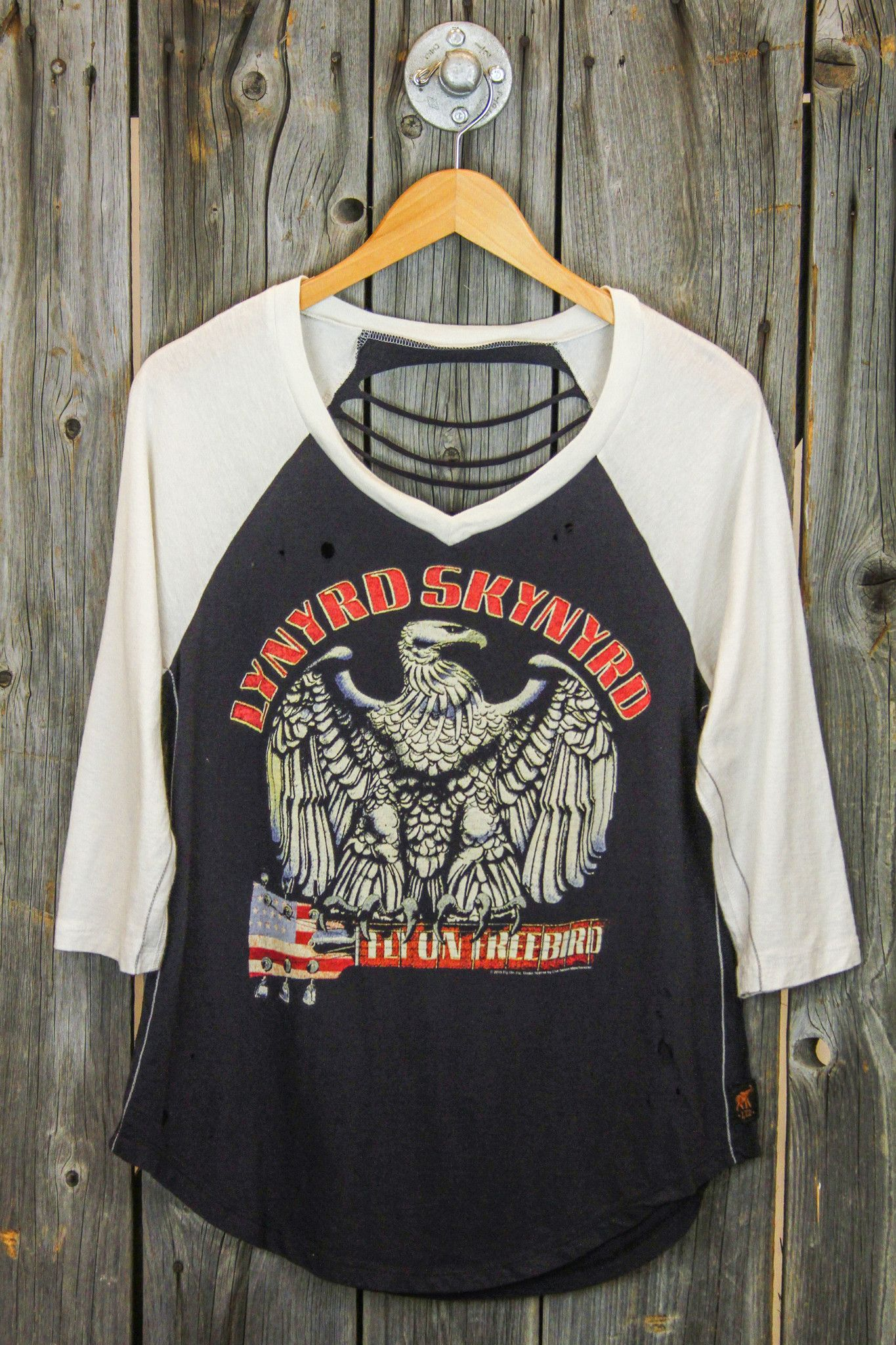 7b1b5279 TRUNK LTD Lynyrd Skynyrd Freebird Shredded Raglan | *Get In My ...