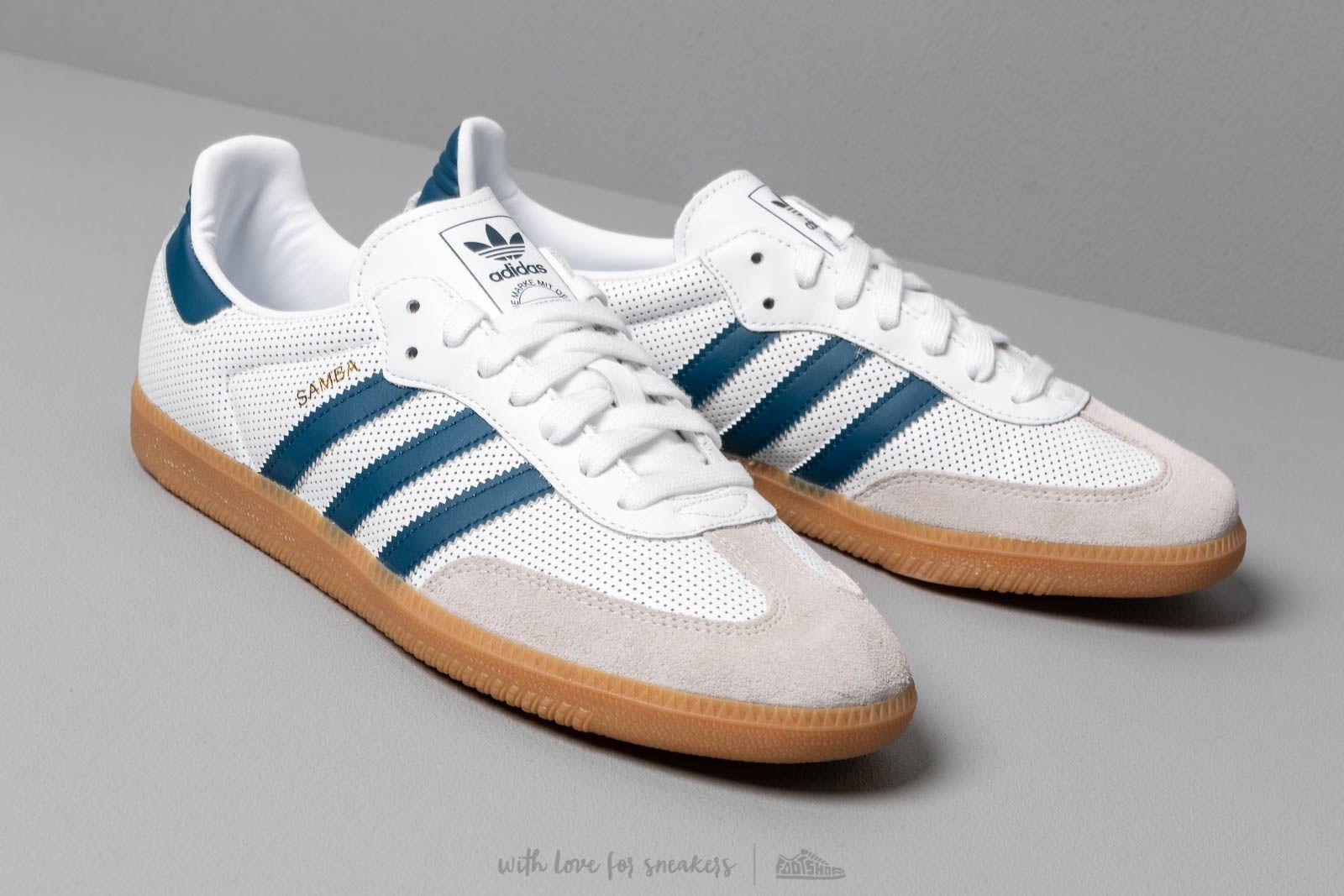 adidas Samba OG Ftw White Legend Marine Grey One