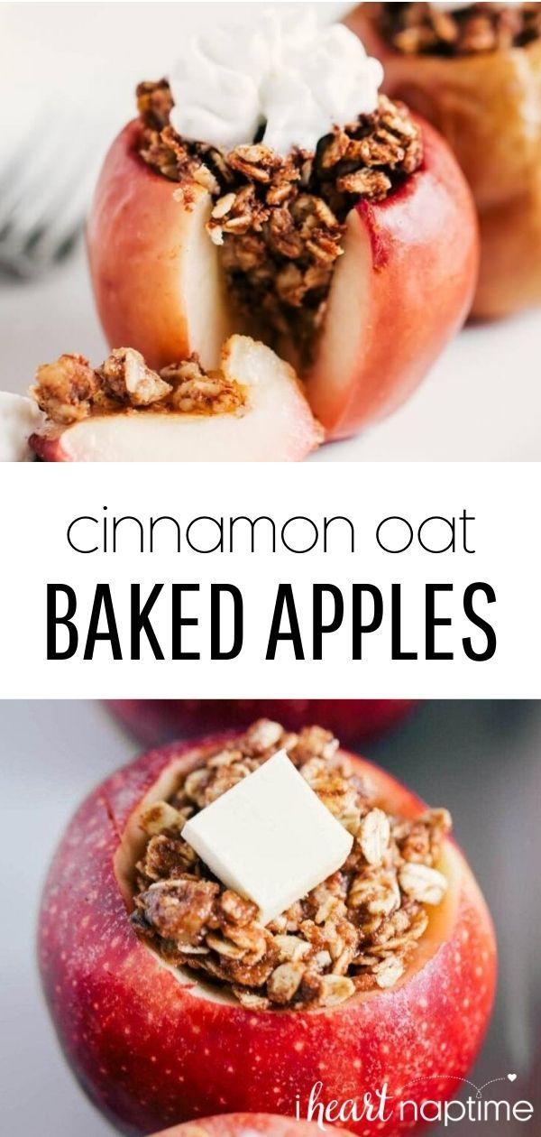 Healthy Cinnamon Oat Baked Apples I Heart Naptime Recipe Healthy Dessert Recipes Baked Apple Recipes Baked Apples