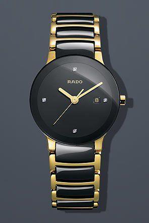 rado womens r30930712 centric jubile two tone black