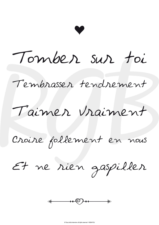 Déclaration Damour Amour Affiche Citation Citation Saint