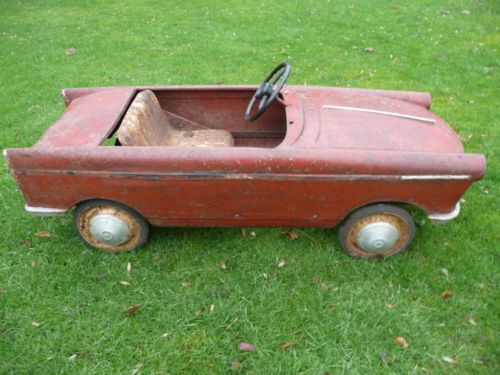 Extremely Rare 1960s Peugeot 404 Pedal Car Barn Find