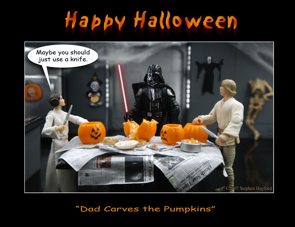 Star Wars Halloween : Vader Slices The Pumpkin | Show Me SciFi
