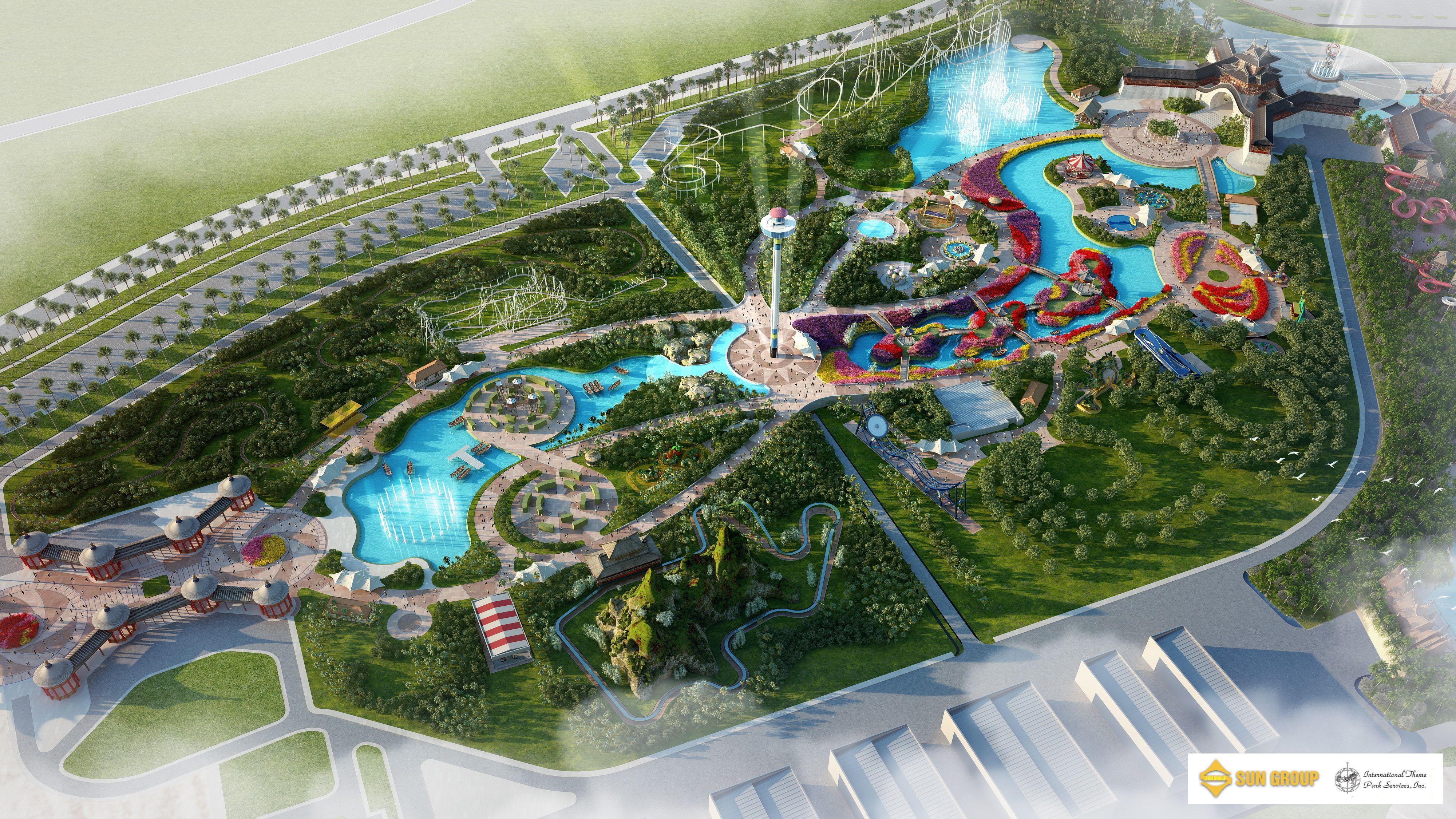 Design International Theme Park Services Inc Parking Design Park Landscape Theme Park Planning