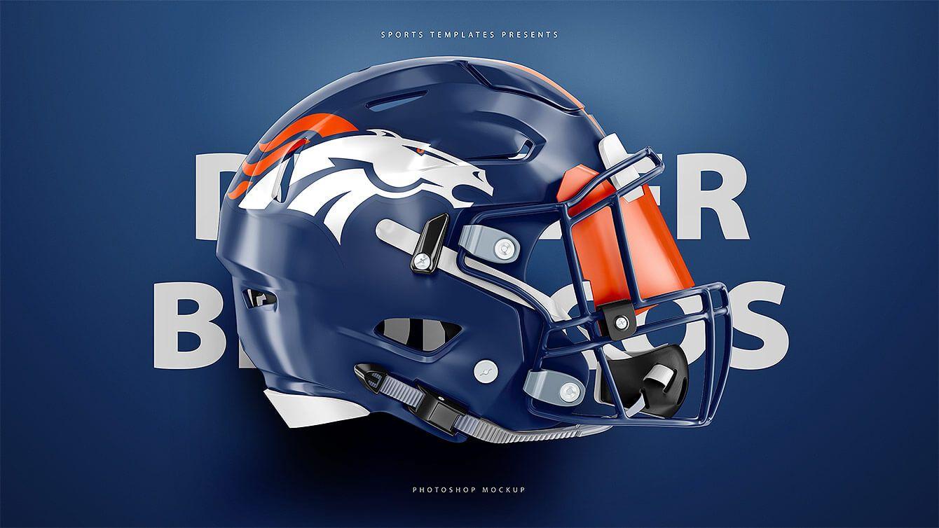95bd6a49f Denver Broncos Riddell Speedflex Football helmet