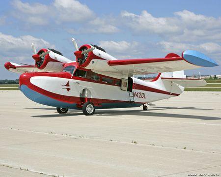 Grumman Goose - twin-engine, seaplane, plane, antique