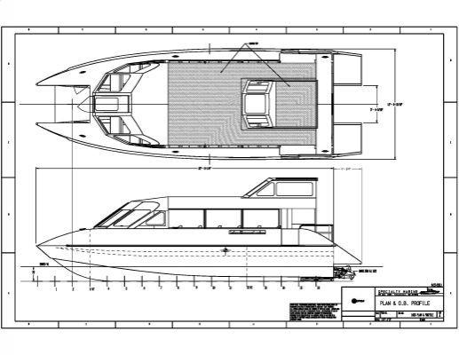 catamaran speed boats diagram