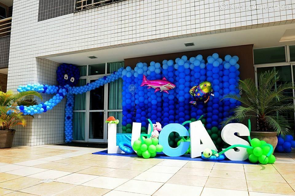 tapete festa personalizado fundo do mar - Pesquisa Google