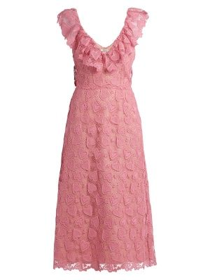 Heart Macram 233 Lace Midi Dress Miu Miu Matchesfashion