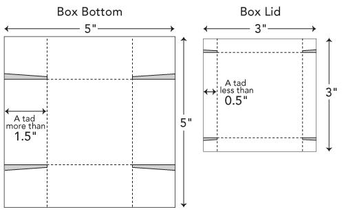 Moldes para hacer una caja con tapa - Imagui