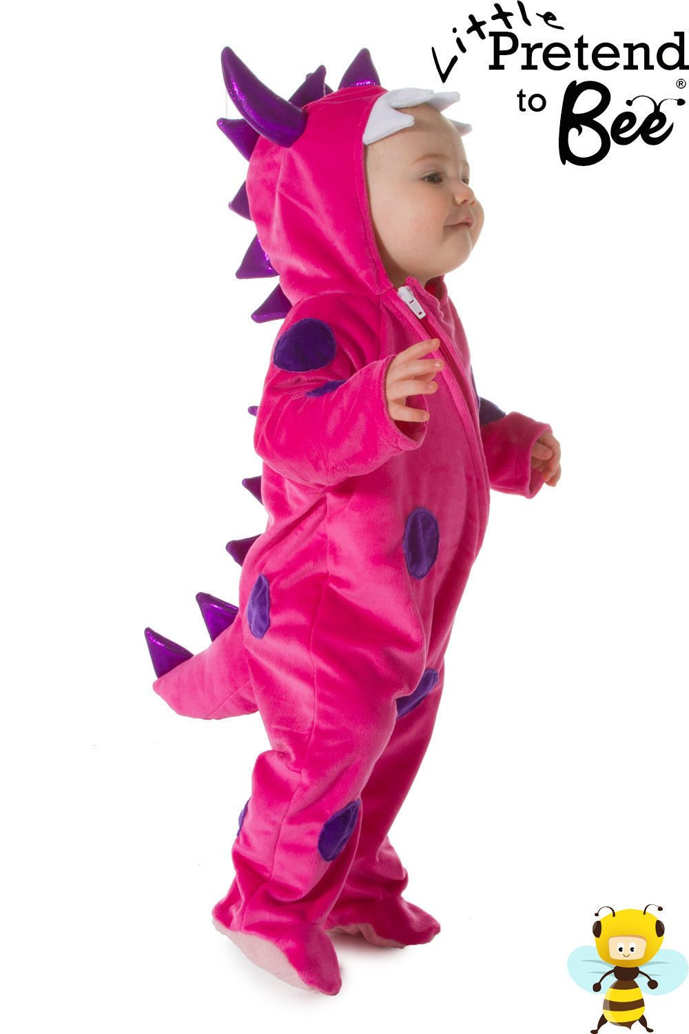 b0a8e6363ca Baby toddler girls deluxe pink monster animal fancy dress outfit ...