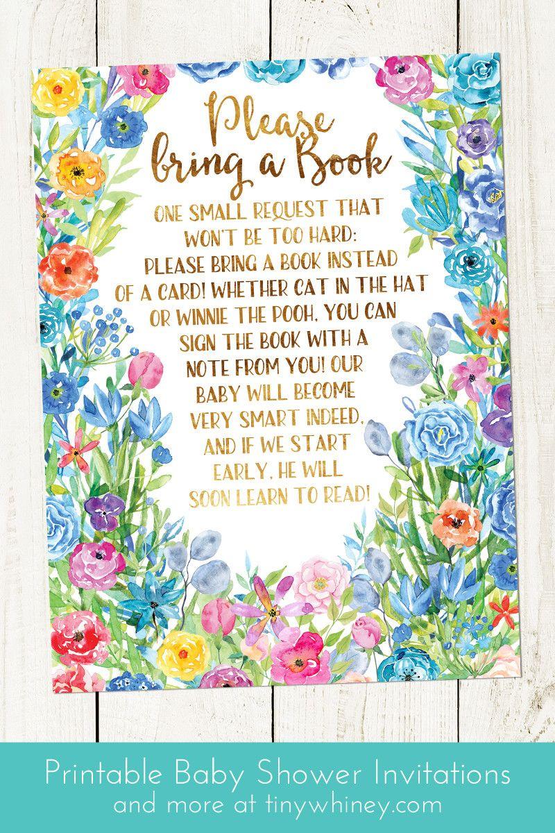 Garden Baby Shower Invitations | Spring Baby Shower | Summer Baby Shower