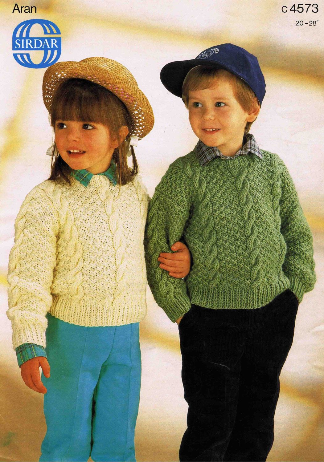 Child set in sleeve and dropped shoulder sweater pullover jumper child set in sleeve and dropped shoulder sweater pullover jumper size 51 71 cm inch sirdar aran vintage retro bankloansurffo Image collections