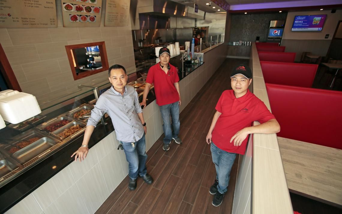 John Weng Steve Lin And Scott Chen Pictured Tuesday July 2 2019 Operate The New Mr Wok Chinese Express Located At 8 West Fargo Fargo Young Chow Fried Rice