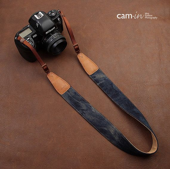 Blue Jeans Denim DSLR Camera Strap in Cotton / by CamInPhotography, $32.00