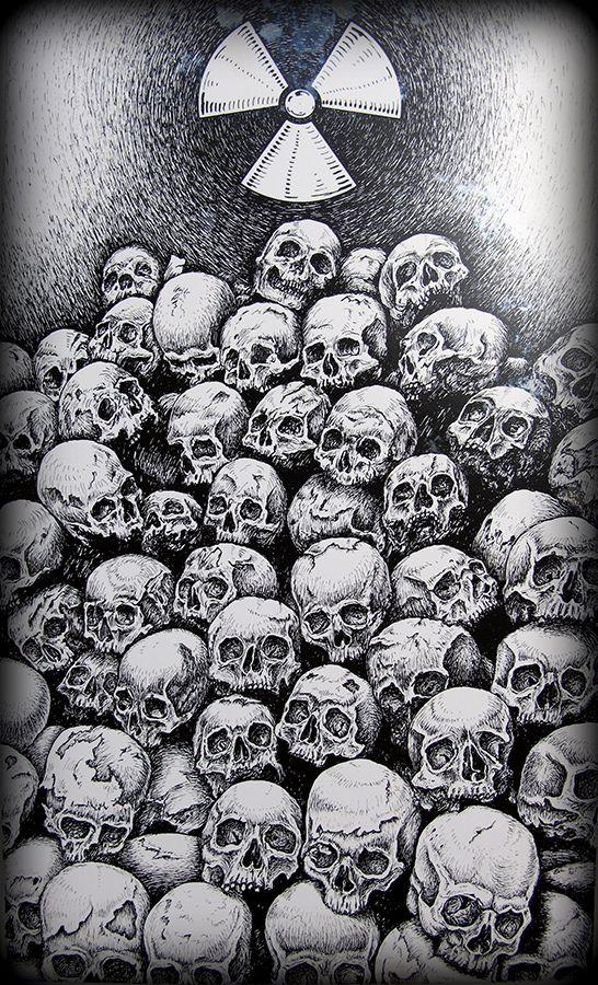 pile of skulls drawing by eric rignall rick tatt pinterest tattoo dark art and creepy. Black Bedroom Furniture Sets. Home Design Ideas
