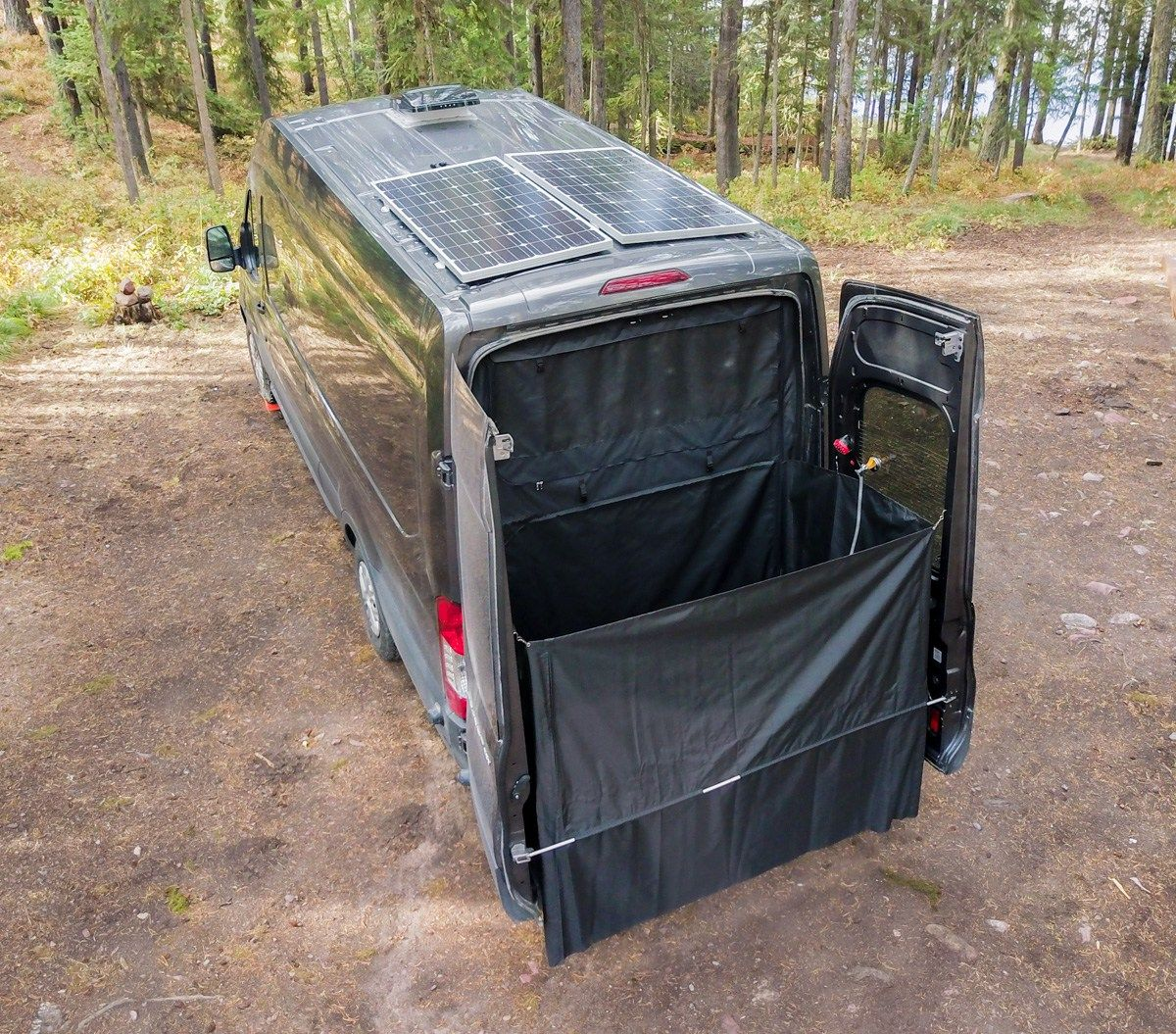 Photo of Exterior Shower for Camper Van Conversion | FarOutRide
