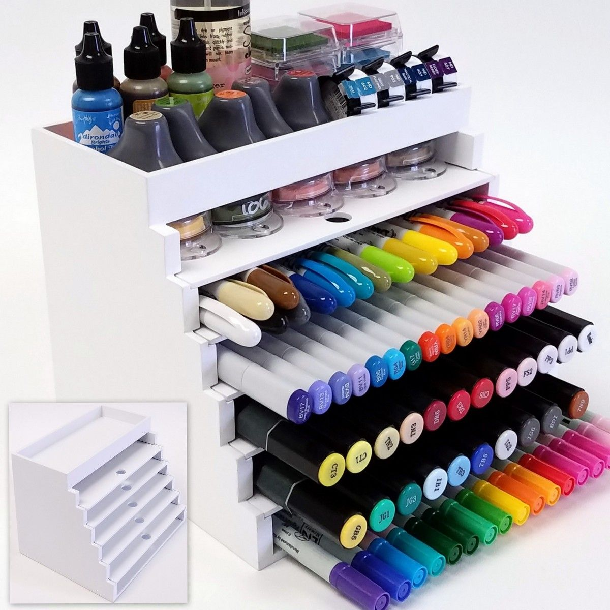 Craft Marker Organizer Great For Pens Inks Daubersand Card