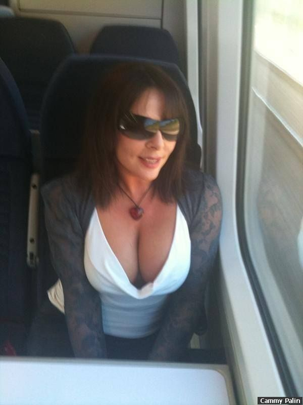 Hot milf on train