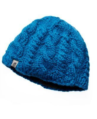 The north face hat, cable fish beanie octopus blue os