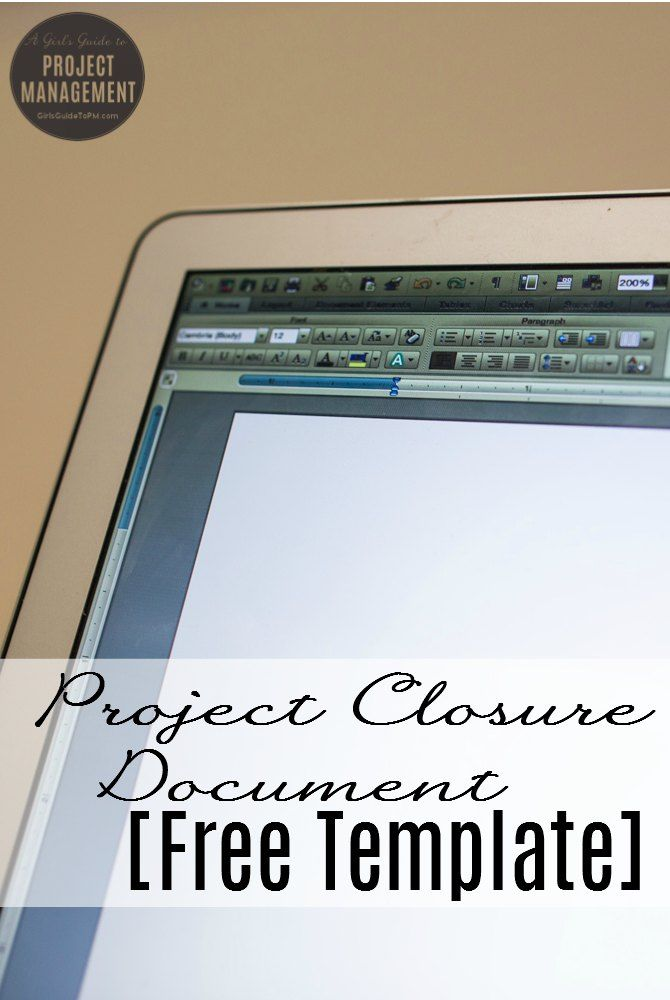 Project Closure Document Free Template u2022 Girlu0027s Guide to Project - project closure template