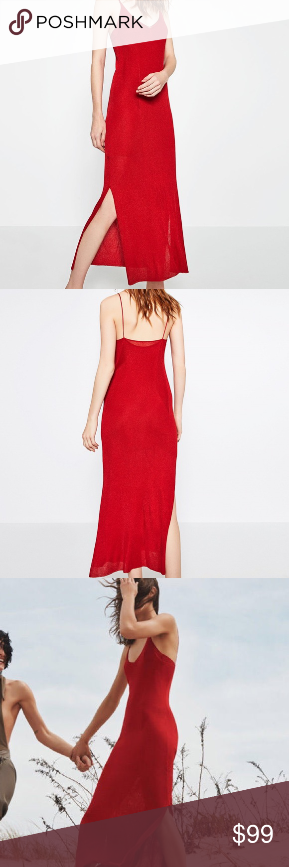 Stunning zara limited edition red dress brand new with tags double