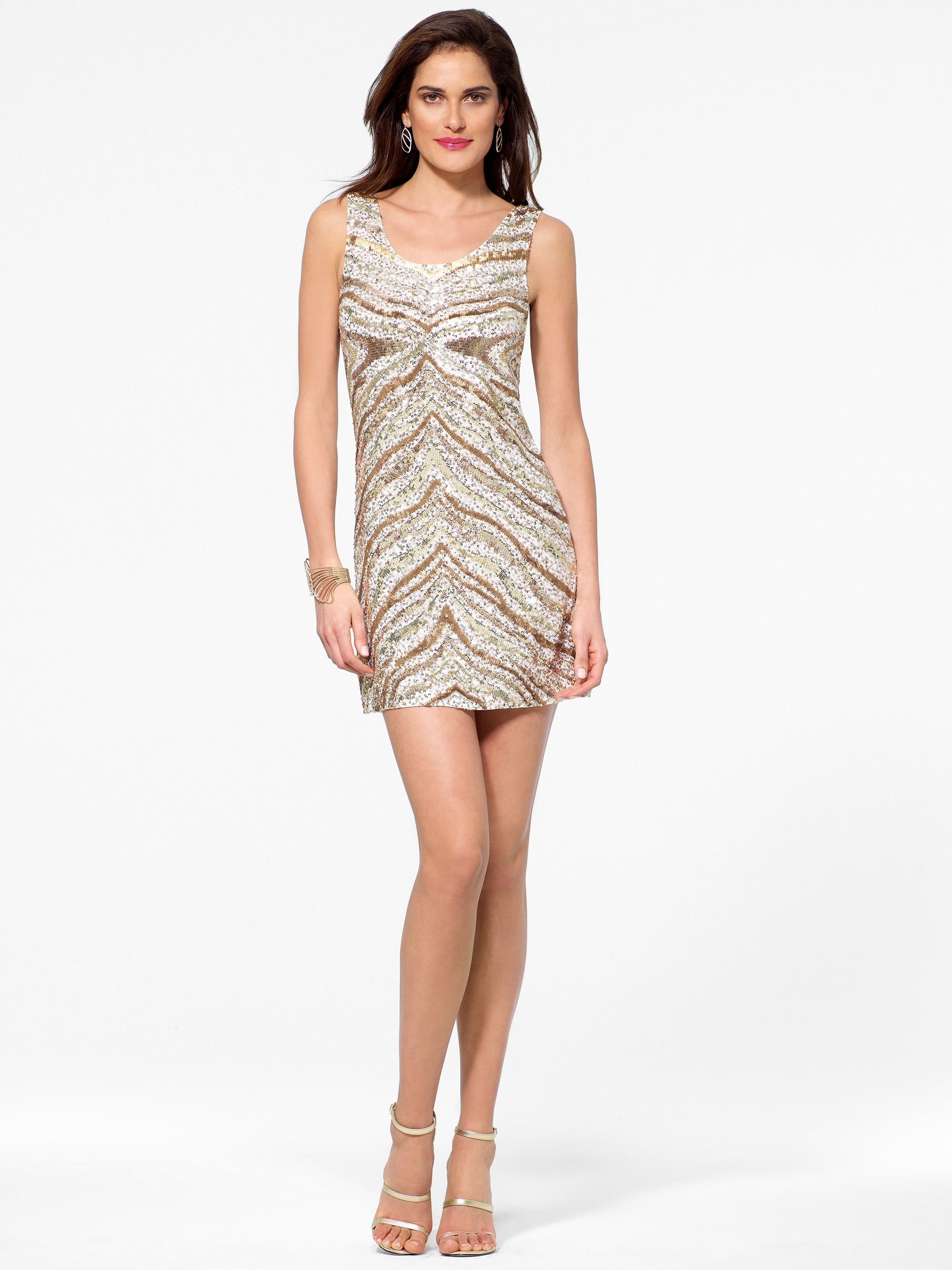 Cocktail dresses zebra print sequin dress caché kristenus