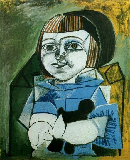 "Pablo Picasso - ""Paloma blue"". 1952"
