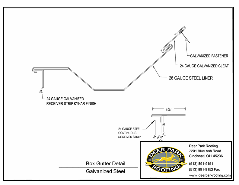 Deer Park Roofing Cincinnati Box Gutters Box Gutters In Cincinnati Ohio Gutters Box Gutter Gutter Repair