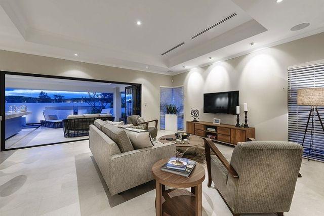 polstermöbel-mid-century-modern-einrichten-wohnzimmer-retro - luxus wohnzimmer einrichtung modern