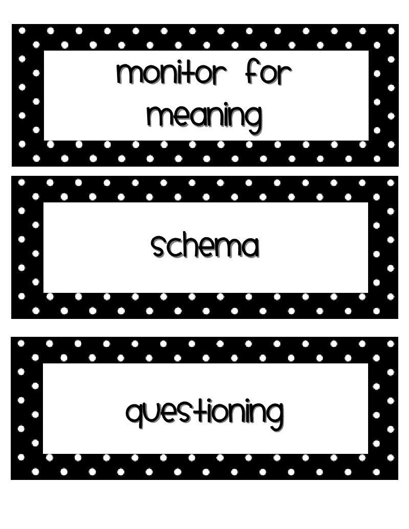 7 Keys to Comprehension mentor texts book tub labels