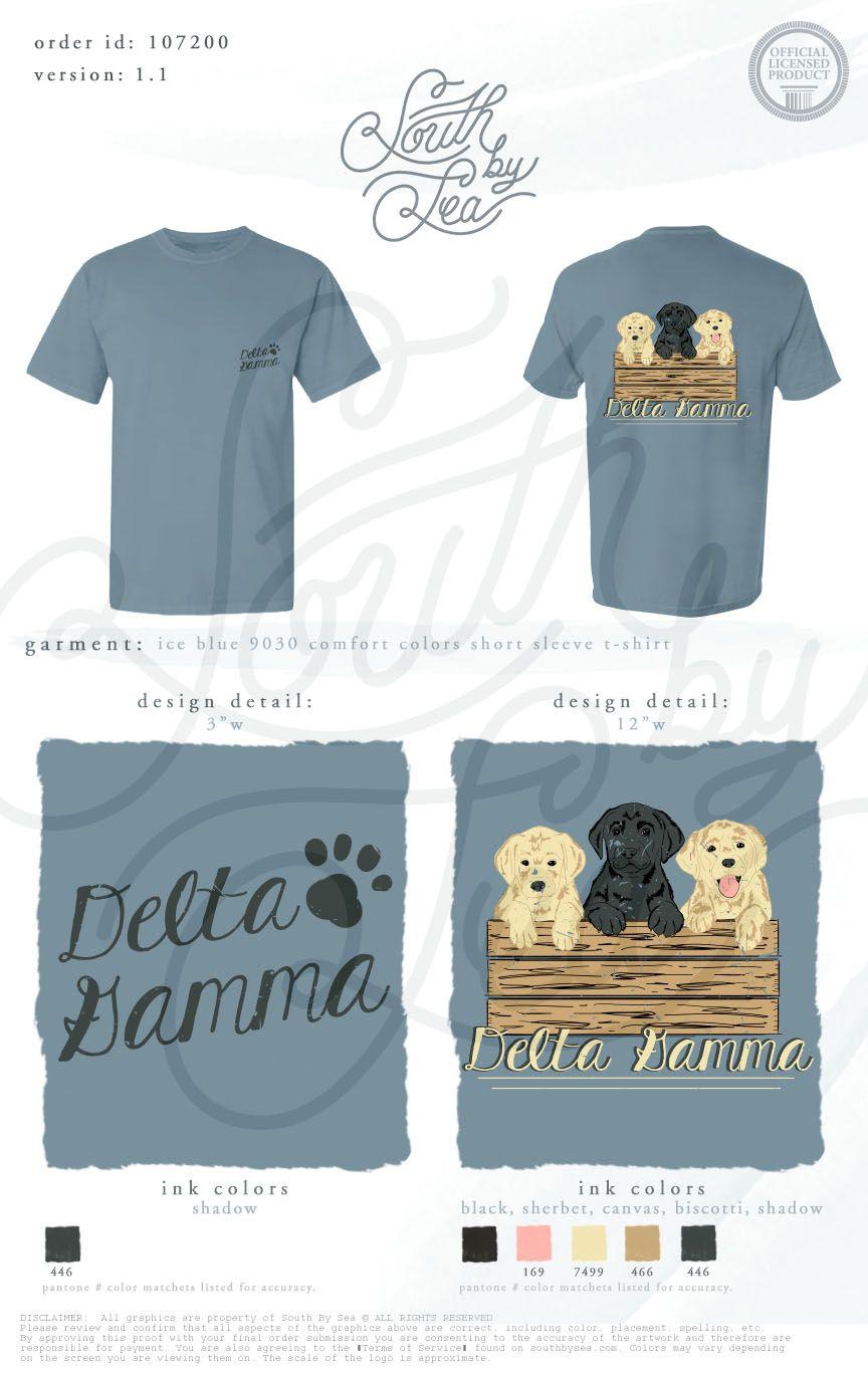Delta Gamma Dg Puppy Theme Sorority Dogs South By Sea