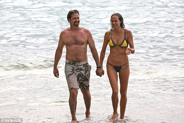 Gerard Butler And His Bikini Clad Girlfriend Morgan Brown