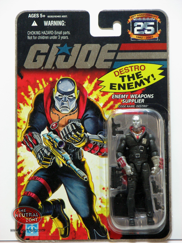 Iron Grenadiers Destro Gold 3.75 Inch Action Figu 2007 Hasbro GI JOE 25th Anniv