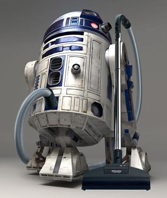 Miele unveils the R2D2 cleaning droid and Jedi accomplice (HEPA filtration and lightsaber storage…