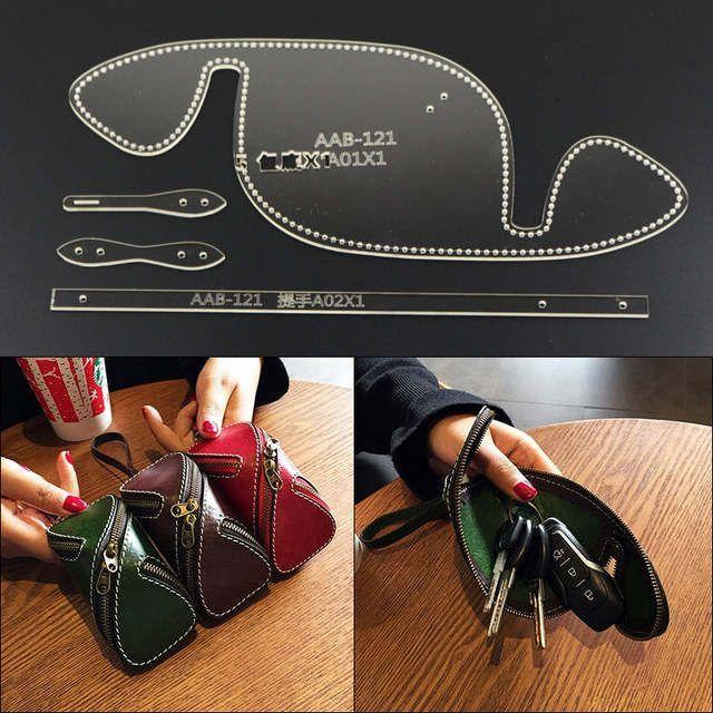 DONYAMY 1 Set de artesanía de cuero de bolsa coche llave anillo plantilla – #an…