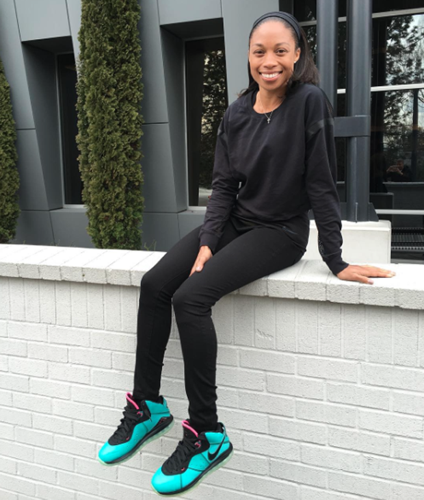 lebron 8 south beach. allyson felix in the nike lebron 8 \ lebron south beach